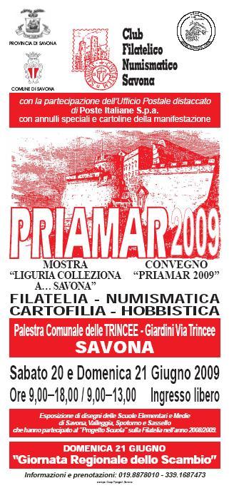 Locandina della manifestazione Priamar 2009